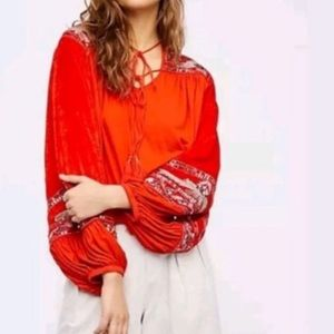 ⚡️Free People Hearts Aflame sequined velvet top